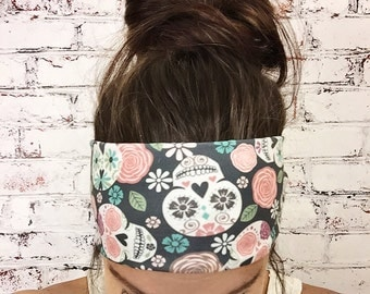 Yoga Headband - Sugar Skulls - Color - Eco Friendly