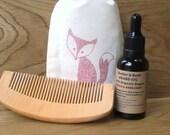 Solid Wood Beard Comb / Small Wooden Comb, Pocket Comb, Hair Comb