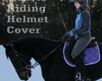 Winter Riding Helmet Cover ASSORTED COLOURS Adult ONE size Handmade Canada Cozy Warm Fleece Head Wear Accessory Equestrian Equine