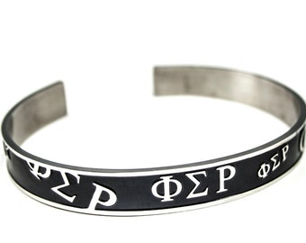 Phi Sigma Rho Bangle Cuff Bracelet (Different Colors Available) / Phi Sigma Rho Sorority Jewelry / Sorority Jewelry and Accessories / Gifts