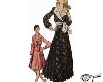 Vogue Paris Original designer pattern by Nina Ricci 2729, Bust 38 inches, Pattern for dress Vintage 70s sewing pattern