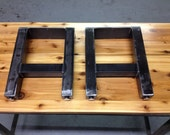 H Style Steel Bench Legs - Adjustable Leveling Feet