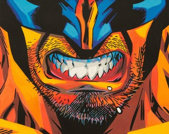 wolvErine - art prints of an original eightangrybears painting (Wolverine comic art)