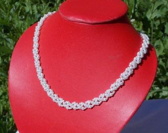 Bridal shower gift anniversary jewelry White pearl jewelry bridal jewelry bridal necklace wedding jewelry necklace white necklace for bride