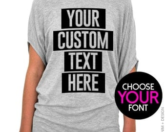Your logo shirt etsy for Make your own screen print shirt