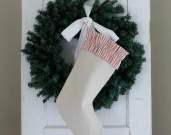 Candy Cane Stripe Christmas Stocking