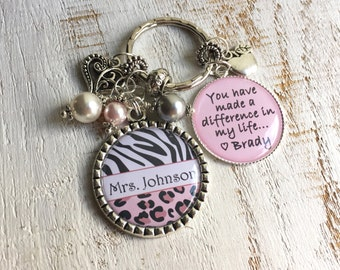 Personalized Keychain-for-Teacher Personalized Gift-for-Babysitter Christmas Gift-for-Teacher Personalized Gift-for-Teacher Gift-for-Nanny