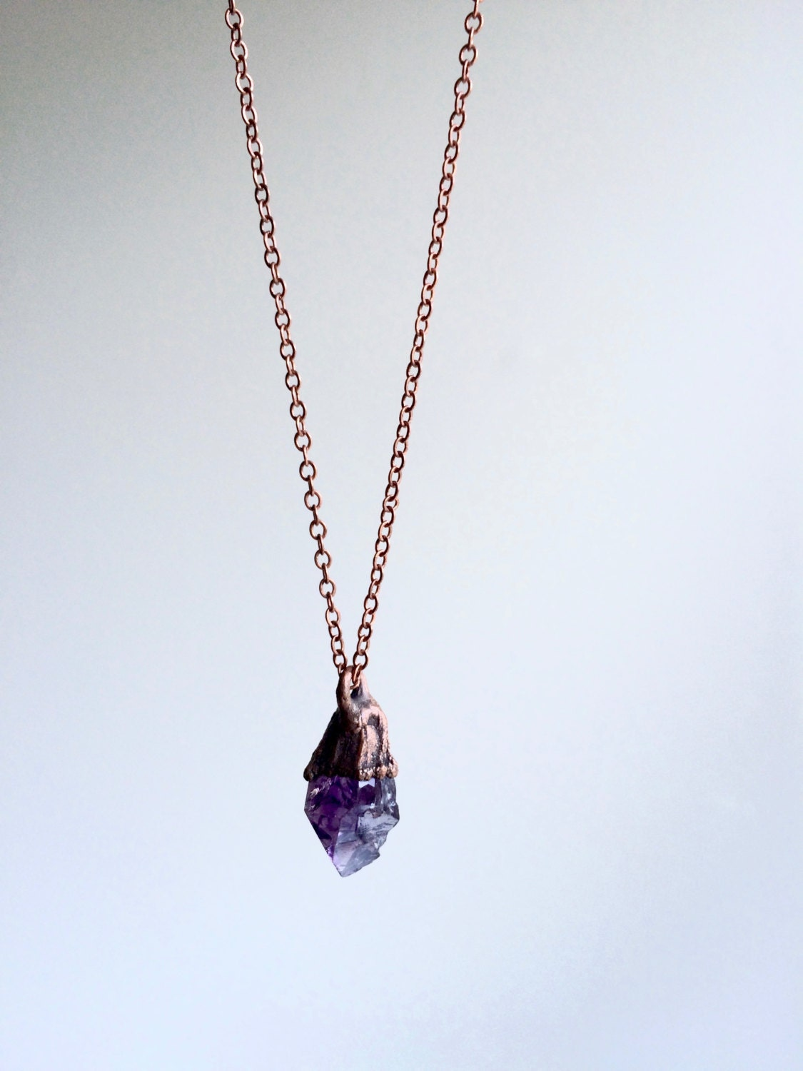 amethyst crystal necklace - photo #10