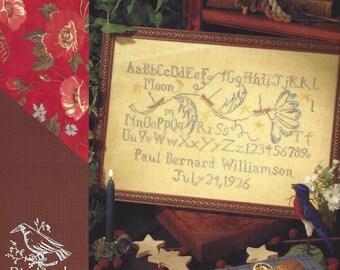 Blackbird Designs - Sailing Home - Birth Sampler - Counted Cross Stitch Chart