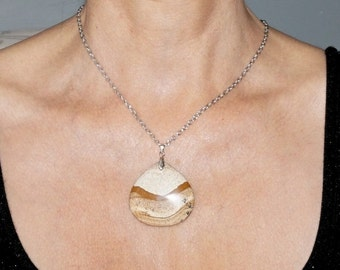 Picture Jasper Handcrafted Pendant Necklace