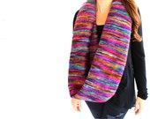 Chunky Scarf, Fall Scarf, Cozy Scarf, Knitted Scarf, Winter Scarf, Infinity Scarf, Multicoloured, Colourful Scarf, Accessory, Warm Scarf