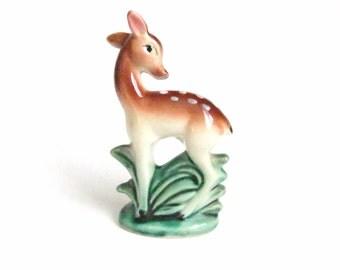 Vintage Fawn Figurine, Deer Figure, Mid Century Home Decor