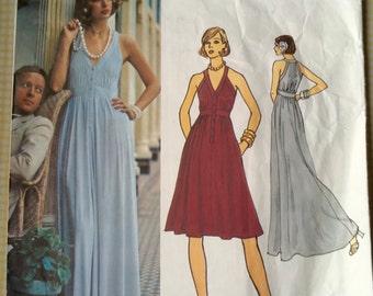 Vogue Couturier Design Pattern Jean Muir 2884 Misses' Evening Dress Size 12
