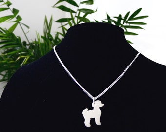 Ted the Toy Poodle sterling silver necklace
