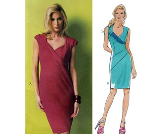 Women's Maggy London Dress Sewing Pattern, Sweetheart Neckline, Sleeveless or Short Cap Sleeves, Size 8-10-12-14-16 Uncut Butterick B5921