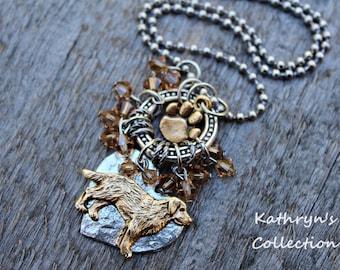 Golden Retriever Necklace, Golden Retriever Jewlery, Golden Retriever Memorial Keepsake, Dog Jewelry