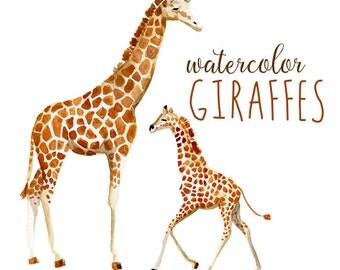 Items similar to Giraffe Clip Art, Baby Shower Animal Clipart ...