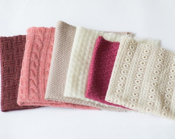 Newborn photography blanket  / baby posing fabric / layer mini blanket set / sweater knit blanket / textured fabric / basket stuffer