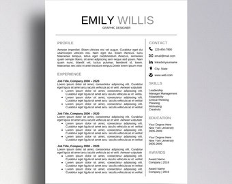 buy 1 get 1 free professional resume template cv template cover letter for word professional - Professional Resume Free