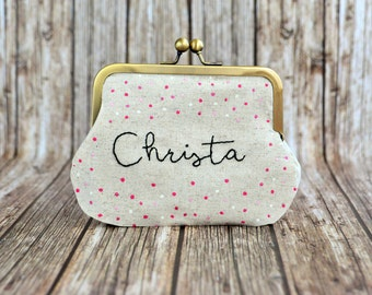 Personalized clutch purse, thank you gift for woman,  custom made purse with your color, wedding clutch, personalized bridesmaid gift
