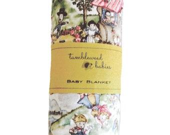 Nursery Rhymes Baby Receiving Blanket /Swaddle Blanket/Newborn Flannel Blanket