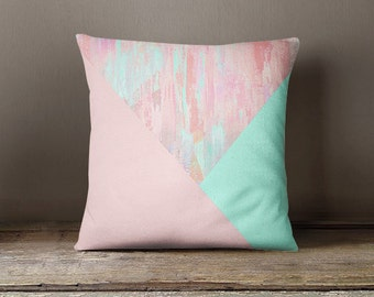 Throw Pillow Cover, Decorative Pillow Cover, Accent Pillow Cover, Abstract Pillow Cover, Pastel Pillow Cover, Nursery Decor