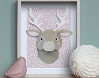 Reindeer - Creative Kit DIY animal trophy in paper