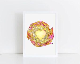 Circle of Love Mandala, Yoga Art, Home Decor, Nursery, Kids Bedroom, Baby Shower Gift