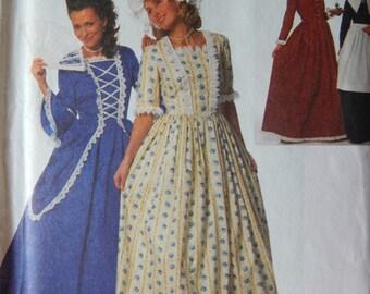 a21d3ba367db Historic Gown Sewing Pattern  Simplicity 9713  Misses Miss Petite Sz 16