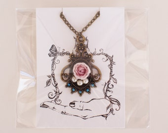 Necklace for Blythe -Rose-  1/6 dolls accessory