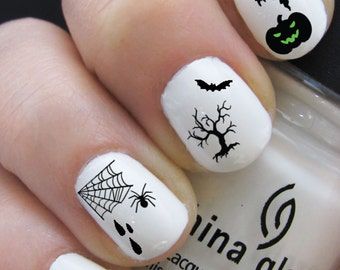 Halloween Nail Decals- Black only -Water Nail Decal Nail Art