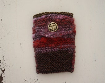 Knitted Phone Case, Knit Smartphone Case, Red Phone Case, Brown Phone Case, Purple Phone Case, Knitted iPhone Case, Electronic Accessory