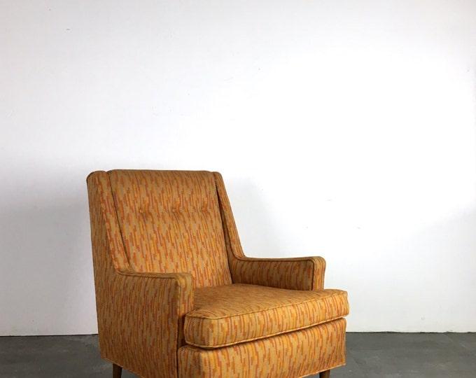 Featured listing image: Vintage Edward Wormley Dunbar Lounge Chair Mid Century Modern Jack Lenor Larsen
