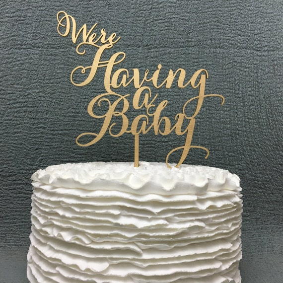Baby Announcement Cake Topper, Pregnancy Announcement, Glitter Cake Topper, Baby Shower Cake Topper, Gender Reveal Cake Topper
