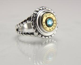 Sterling Silver Bullet Ring - Silver Bullet Jewelry - Sterling Silver Ring - Southwestern Ring - Western Jewelry - Brass Bullet Casings