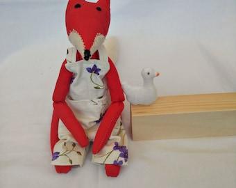 Stuffed fox doll , Red Fox toy , Organic stuffed fox , Organic stuffed animals , Waldorf fox toy , Handmade fox toy , Plush fox , Red fox