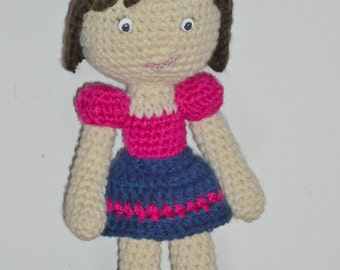 FINISHED, READY to SHIP Amigurumi art doll, handmade collectable doll, toy for girls over 3 years