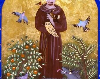 St. Francis & The Wolf 8x10 Digital Print