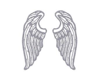 ANGEL WINGS Iron On Design, Angel Spiritual Clothing, Bag and Home Decor
