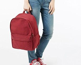 Basic Canvas Backpack,Rucksack,Travel Bag,School Bag,Canvas Backpack,School Backpack 12 Colors