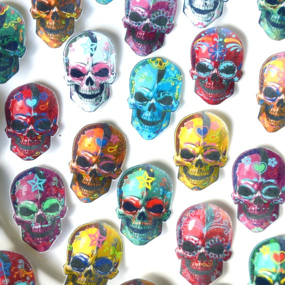 Edible Cake Decorations Skull : Edible Calavera Sugar Skulls x105 - Day of the Dead Voodoo ...