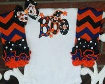 Baby Girl Halloween Outfit! Baby Girl Boo Halloween Outfit/Witch Hat Halloween Outfit/Halloween leg warmer outfit/Girls Halloween Outfit