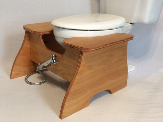 bidet poop stoop full squat toilet foot stool by poopstoops. Black Bedroom Furniture Sets. Home Design Ideas