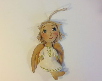 Doll Angel Little Angel Cloth art doll Textile doll Stuff doll Fabric doll Soft doll Rag doll Collecting doll handmade doll Angel