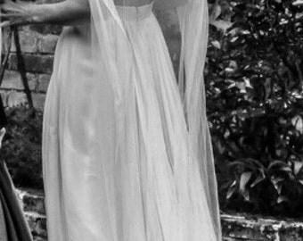 Vintage style wedding veil, Church veil