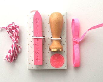 Mini wax seal kit - wax stamp