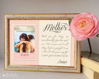 "Mother of the Bride Gift - Mother of the Groom gift, Mother of the Bride Frame, Mother Thank You Gift, Mother In Law Gift, 11""x15"""