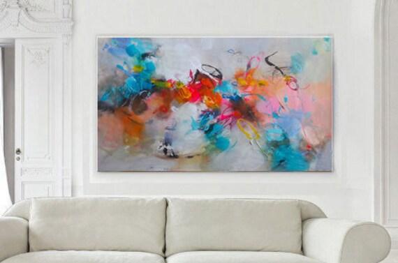 Original Abstract Acrylic Painting Large Wall Art Canvas Modern Art