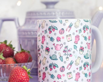 Garden Pattern Mug - Those Who Grow Collection - Gift for Gardener