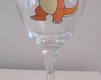 Charmander wine glass